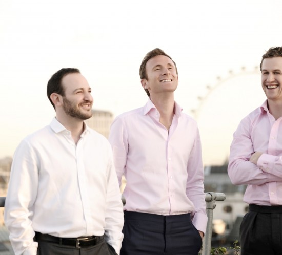 DeVono co directors (left to right) Adam Landau, 33, Robert Leigh, 32 and Luke Philpott 31