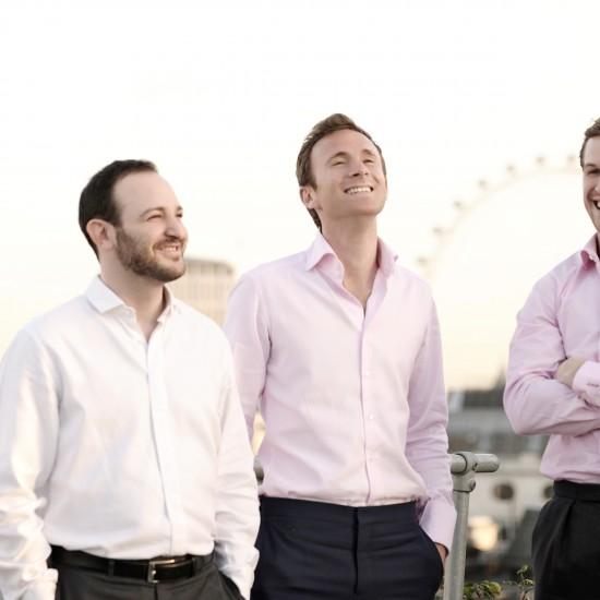 DeVono co directors (left to right) Adam Landau, 33, Robert Leigh, 32 and Luke Philpott 31