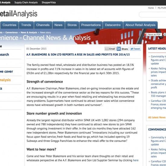 Retail Analysis
