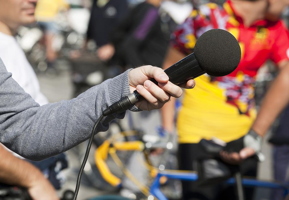 Publicity campaign microphone